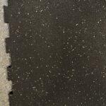 Classic Rubber Gym Mat 1mx1mx17mm White and Black soft mat